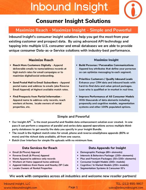 Consumer Insight Solutions Brochure